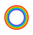 rainbow ring vector image vector image