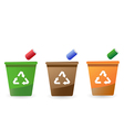 recycling bins vector image
