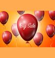 red balloons with an inscription big sale sale vector image vector image