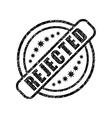 Rejected damaged stamp vector image vector image
