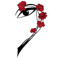 roses and eye vector image vector image