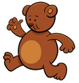 running bear cartoon character vector image vector image
