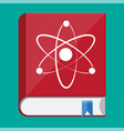 science book and atom logo vector image vector image