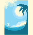 sea waves tropical landscape blue background vector image vector image