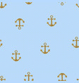 seamless pattern with gold anchors vector image vector image