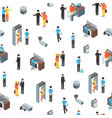 security system people and equipment 3d seamless vector image vector image