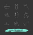 set of beautiful icons line style symbols with one vector image