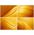 Set of orange backgrounds vector image vector image