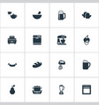 set of simple cuisine icons elements roasted bread vector image vector image