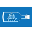 Ship in a bottle vector image vector image