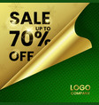 square web banner sale up to 70 percent vector image vector image