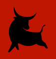 stylized silhouette a bull symbol new vector image