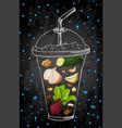 Summer fruit smoothie drink menu infographic