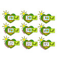 summer sale tags set badges template 10 vector image