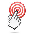 target and mouse hand vector image vector image