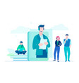technical support - flat design style colorful vector image