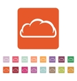 The cloud icon Cloud symbol Flat vector image vector image