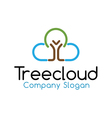 Tree Cloud Design vector image vector image