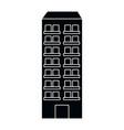 urban building cartoon vector image vector image