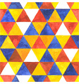 Watercolor triangular seamless pattern vector image vector image