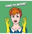 Working Girl vector image vector image