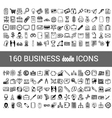 160 business doodle icon for your infographic vector image