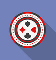 Casino chips icon Modern Flat style with a long vector image