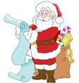 happy cartoon Santa Claus vector image