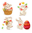 happy easter isolated on white background vector image