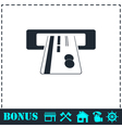 Atm cash icon flat vector image