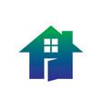 home icon contruction logo vector image