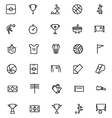 Football Line Icons 1 vector image