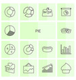 14 pie icons vector image vector image