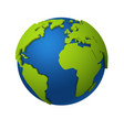 3d globe round world map with green vector image vector image