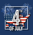 4th of july greeting card background vector image vector image