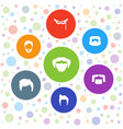 7 disguise icons vector image vector image