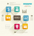 abstract business infographics vector image vector image