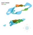 Abstract color map of East Timor vector image