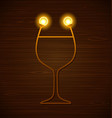 abstract wine glass vector image vector image