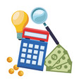 accounting calculator icon vector image