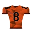 american football jersey uniform tshirt abstract vector image