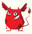Anger red monster vector image vector image