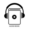 audio book online iconsimple symbol flat vector image vector image