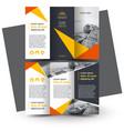 brochure design template creative tri-fold vector image vector image