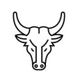 bull avatar line icon concept sign outline vector image