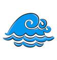 cartoon image of wave icon water wave symbol vector image vector image