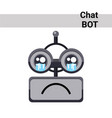 cartoon robot face cry emotion chat bot icon vector image