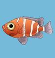 cartoon tropical fish vector image