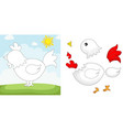chicken puzzle vector image