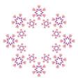 christmas snowflake season motif design vector image